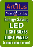 LED light boxes and light boards